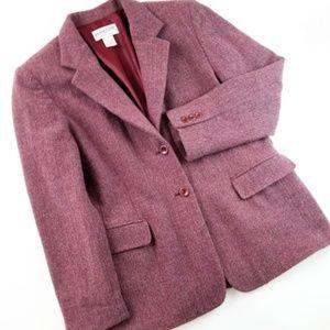 Pendelton Herringbone Tweed Blazer